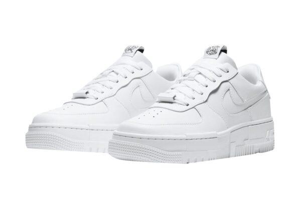 Nike Air Force 1 Low Pixel Triple белые кожаные женские (35-39)