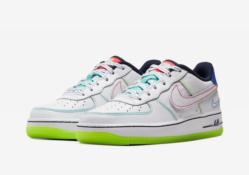 Nike Air Force 1 Low outside the lines GS белые (40-44)