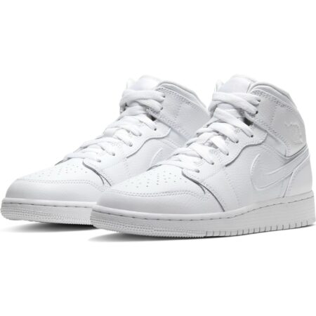 Nike Air Jordan 1 Retro High белые кожаные мужские-женские (35-44)