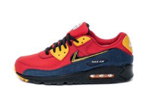 Nike Air Max 90 красные с синим (40-44)